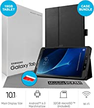 $249 » Samsung Galaxy Tab A SM-T580 10.1-Inch Touchscreen 16GB Tablet (2 GB Ram, Wi-Fi, Android OS, Black) Bundle with Case, Screen Protector, Stylus, 32GB microSD Card and Mobile Deals Microfiber Cloth