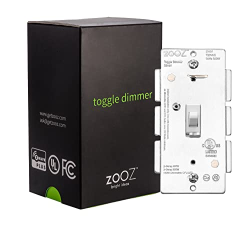 Zooz Z-Wave Plus Toggle Dimmer Light Switch ZEN24 VER 2.0 (White),