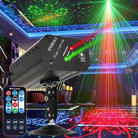パーティーライトディスコライトDJライト、GEELIGHTサウンド活性化ストロボプロジェクターステージライトリモートコントロール付きホームルームダンスパーティー誕生日バーKTVカラオケクリスマスホリデークラブパブ