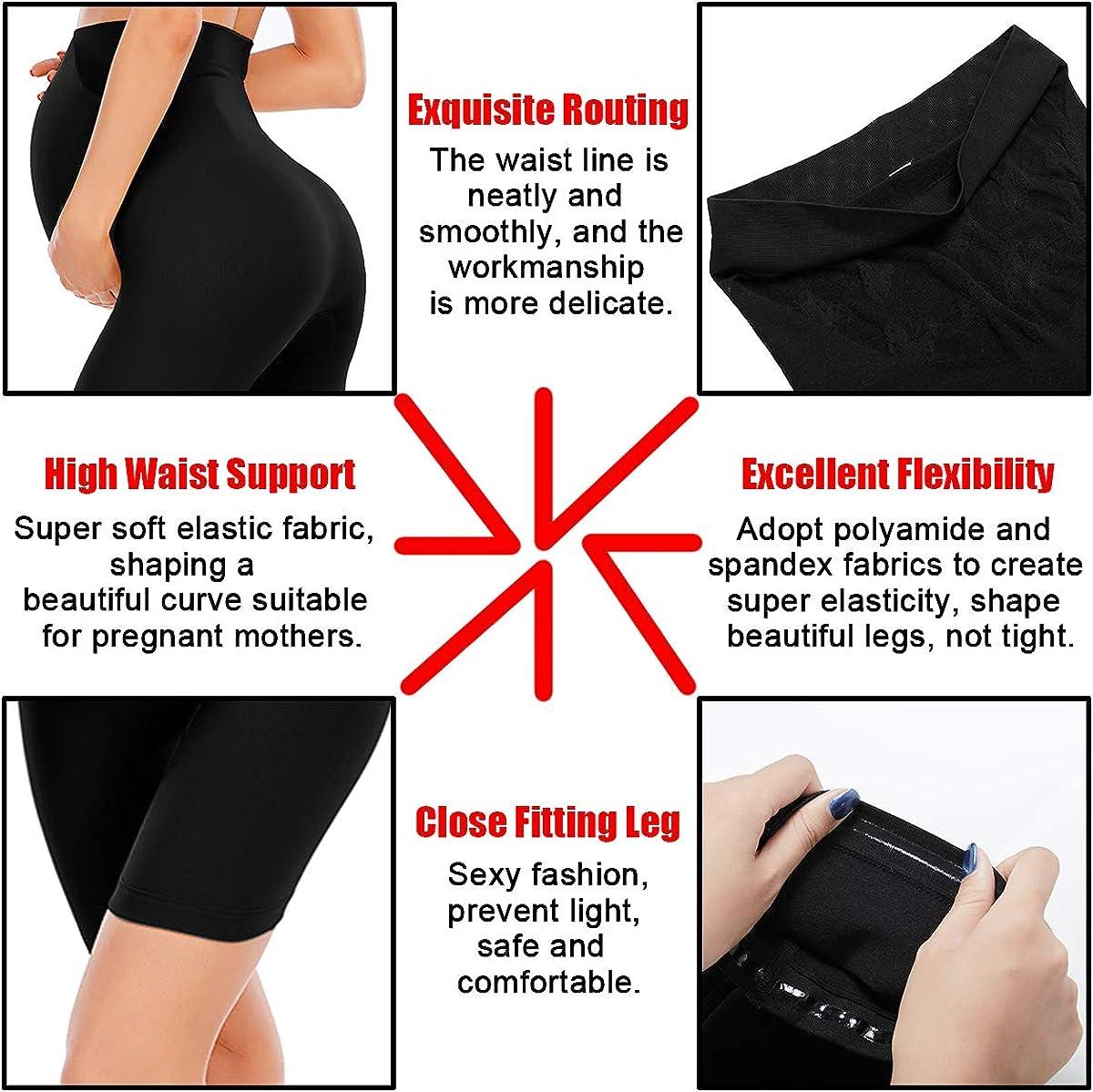 ALING Womens Premium Seamless Maternity Shapewear High Waist Workout Pregnancy Underwear