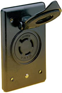 Marinco 2018BR-MB Marine Battery Charging and Trolling System Receptacle and Bracket (4-Wire, 12/24-Volt Locking, Female)