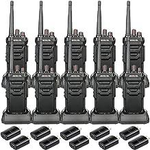 Retevis RT48 Radios Walkie Talkies Set IP67 Waterproof FRS VOX Emergency Alarm Call Two Way Radio Long Distance Handsfree (10 Pack)