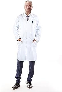 Medvat Halloween Premium Unisex Lab Coat 104cm Length – Comfortable Breathable- Great Halloween Costume, Doctor, Scientist, Dentist | Large