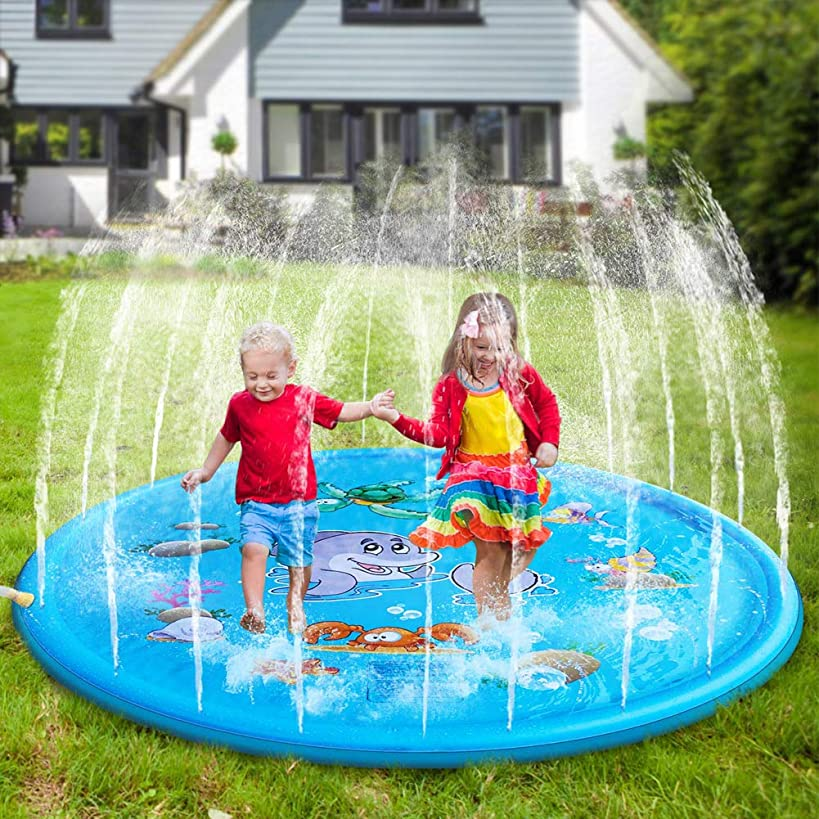 Homlory Sprinkler Pad and Splash Play Mat 68