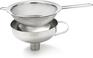 iSi  271401 Combination Funnel with Sieve Insert for All Cream/ Food Whippers and Canning, Universal Fit, Stainless Steel