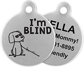 blind dog tag