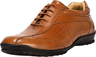 Liberty Walking Casual Shoes Genuine Leather Lace Up Cushioned Footbed Sneakers