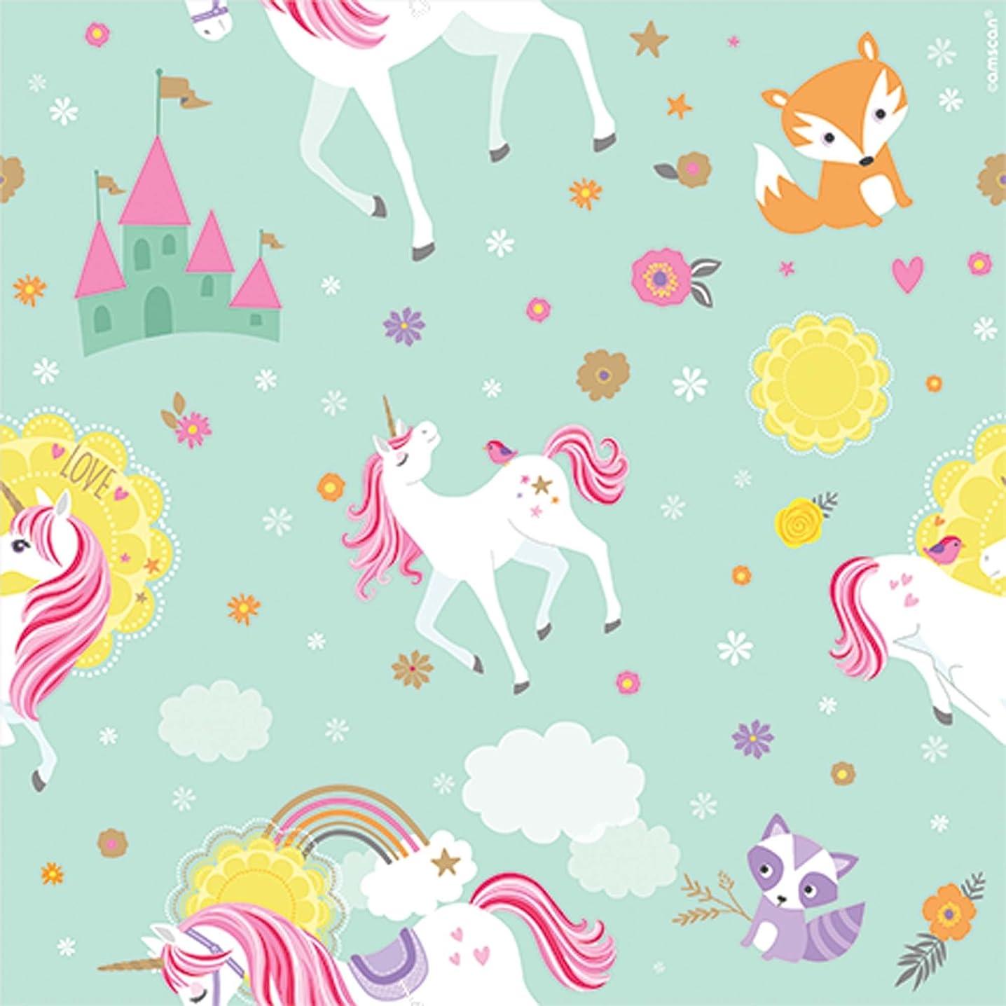Amscan 231929 Unicorn Gift Wrap, 5' x 30