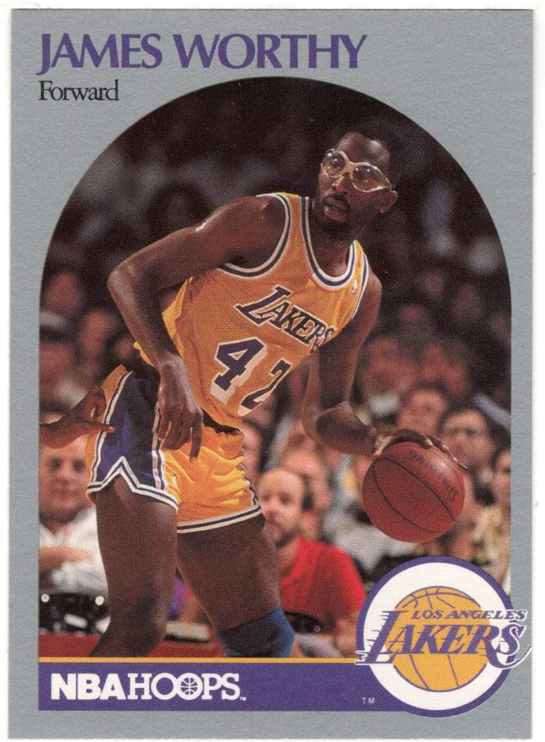 James Worthy - Los Angeles 1990-91 Lakers Hoop Basketball Card Spring new work Limited price one after another
