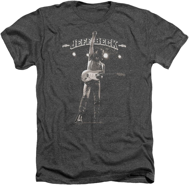 Jeff Beck Beck Beck - Mens Guitar God Heather T-Shirt 6695e9