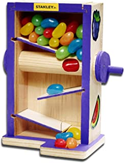 Stanley Jr DIY Candy Maze Building Kit for Kids - Easy Assembly Gender Neutral Toy - Beginner Woodworking - DIY Kits for Girls and Boys - Paint & Decals Included