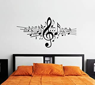 Music Wall Decals for Living Room, Home Decor, Waterproof Wall Stickers , 2724442126989 , 2724442126989
