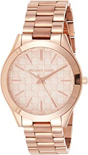 Michael Kors Mk3336 Women's Slim Runway Rose Gold-Tone Stainless Steel Watch, Analog Display