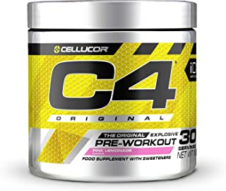 Pre-workout Powder C4 Original Pink Lemonade | Pre-workout Energy Drink Supplement | 150mg Cafeïne + Bèta-alanine + Creat...