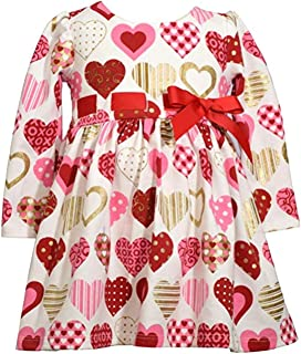 Baby-Toddler-Little Girls Valentine's Day Heart Dress/Legging Outfit