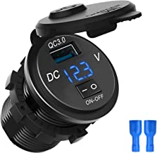 Soapow QC 3.0 Dual USB Charger Socket Waterdichte USB Outlet Dual Charger Socket voor Auto Boot Motorfiets