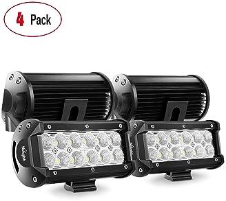 """9/"""" LED Work Light Bar Offroad Driving Fog Lamp Headlight Mower Bowfishing Boat"""
