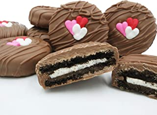 Philadelphia Candies Milk Chocolate Covered OREO Cookies, Valentine's Day Gift 8 Ounce
