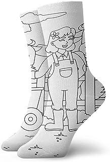 Be-ryl, Calcetines de Mujer Granjero de Mujer con Pala Calcetín Deportivo Cojín Anti Olor Personalizado Personalizado Botas Cortas Medias