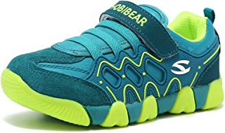 HOBIBEAR Kids Outdoor Sneakers Strap Athletic Running Shoes