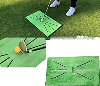 UKKUER Golf Practice Mat, Golf Practice Training Auxiliary Blanket, Used for Swing Detection and Hitting, Home-Office-Outd...