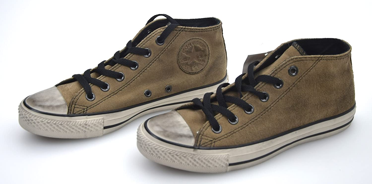 Converse All Star Man Woman Unisex shoes Kakhi Suede Code 135486C