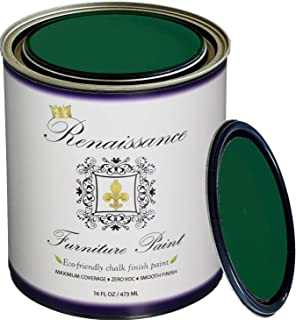 Retique It RFP-P16-Viridian by Renaissance Chalk Finish Paint 16 oz (Pint) Viridian 48