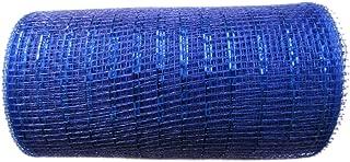 6 inch x 30 feet(10 Yards)-YYCRAFT Metallic Deco Poly Mesh Ribbon(Royal)