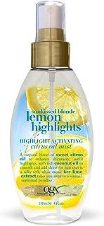 OGX Highlight Activating Citrus Oil Mist, Sunkissed Blonde Lemon, 4 Ounce