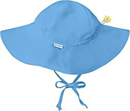 i play. by green sprouts Baby Solid Brim Sun Protection Hat, Light Blue, 9-18 Months