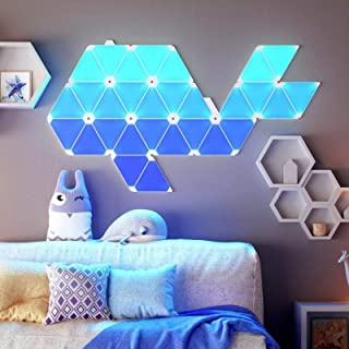 Smart Light Panels, Wall Lamp Smart Ambient Light Board, Triangle Combination, LED Quantum Light, APP Controllable, Room B...