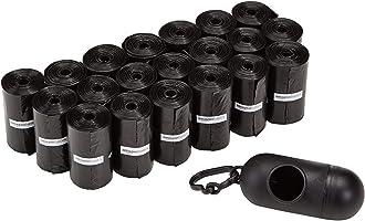 Amazon Basics - Bolsas para excrementos de perro con dispensador y clip para correa (300 bolsas)
