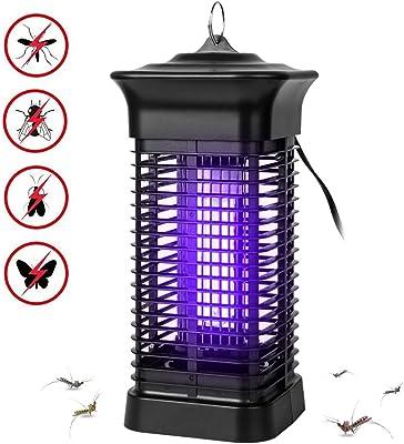 LINKPAL Electric Bug Zapper/Pest Repeller Control Indoor Outdoor 3800 Volt UV Lamp Flying Fly Insect Killer Mosquitoes Flies Repellent Traps Eliminator Catcher Lure Zap (15W Bug Killer)