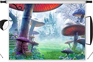 YDMY 7x5ft Alice in Wonderland Party Photography Backdrop-Fantasy Castle Photo Background for Kids Baby Shower Birthday Decorations Booth Studio Props