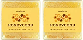 SB Organics Honeycomb with Raw Honey - 2 LBs of 100% Pure Kosher Honey Comb, Earth's Natural Sweetener with No Artificial Preservatives - Made in USA from Wild Bees