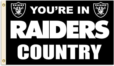 Fremont Die NFL Flag with Grommets, Oakland Raiders, In Country