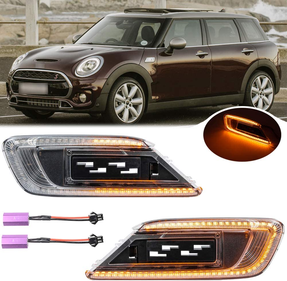 Tucson Mall 2Pcs Euro Dynamic Sequential Blink Amber Marker Light Side LED OFFicial site I