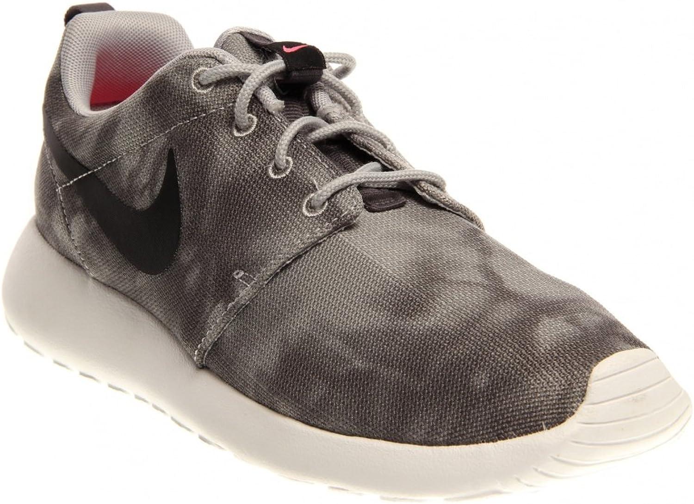 Bauer Nike Men's Roshe Run Black Flint Grey Sneaker 8 D  Medium