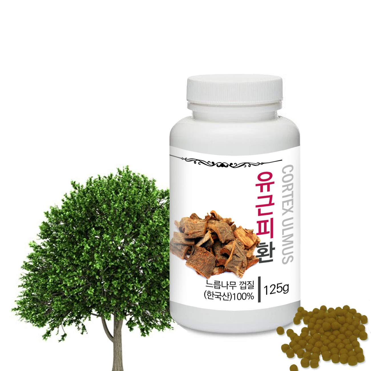[Medicinal Korean Herbal Pills] Prince Natural Cortex Ulmus Pills/프린스 유근피환 (Cortex Ulmus/느릅나무 껍질)