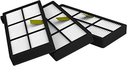 High Efficiency Filters (3x) - Compatible with Roomba 800/900 Series - Black