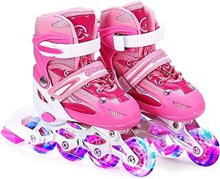 Lixada Inline Skates Kinderskates met verlichte PU-wielen, cadeau voor kinderen, tieners, jongens, meisjes, beginners, dam...