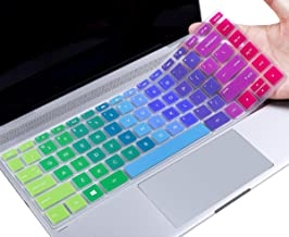 Colorful Keyboard Cover for 2019 HP Stream 14 Laptop/HP Sream 14-ds Series 14-ds0003dx 14-ds0110nr ds0120nr ds0050nr ds0060nr ds0090nr ds0160nr(with Squared Keys), Rainbow