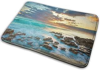 Barnardll-rug Non-Slip Entrance Floor Mat Highland Dunes 'Ocean Sunrise Funny Doormat Door Mat Decorative Indoor Outdoor Doormat Machine Washable Fabric 15.7