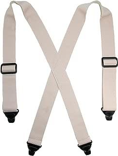 CTM Men's Elastic Undergarment TSA Compliant Suspenders (Tall Available)