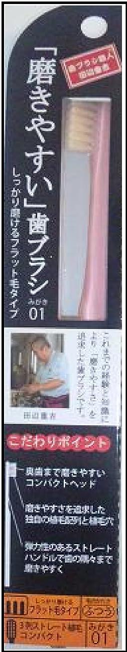 分離する敵意規範磨きやすい歯ブラシ(フラット) 1P*12本入り