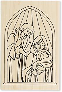 Stampendous Wood Stamp, Holy Nativity