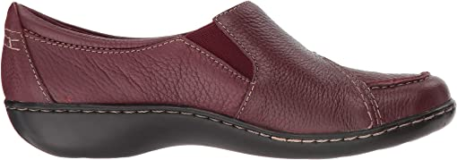 Burgundy Tumbled Leather