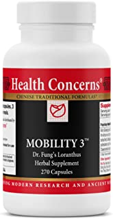 Health Concerns - Mobility 3 - Dr. Fung's Loranthus Chinese Herbal Supplement - Physical Discomfort Relief During Wind, Cold, or Dampness - with Kirin Ginseng Root - 270 Count