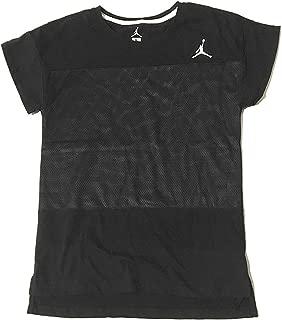 Jordan Jumpman Girls Short Sleeve T-Shirt Black Medium (10-12 Years)