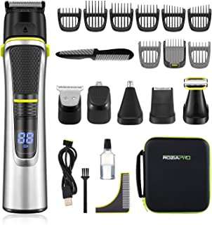Roziapro Beard Trimmer for Men - 15 in 1 Mens Grooming Kit - Cordless Hair Clippers for Men - Nose Hair Trimmer Multifunct...